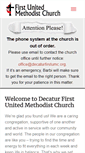 Mobile Preview of decaturfirstumc.org