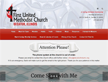 Tablet Preview of decaturfirstumc.org